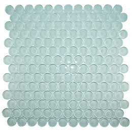 Circles Clear Glass Mosaic Tile, (L)310mm (W)304mm