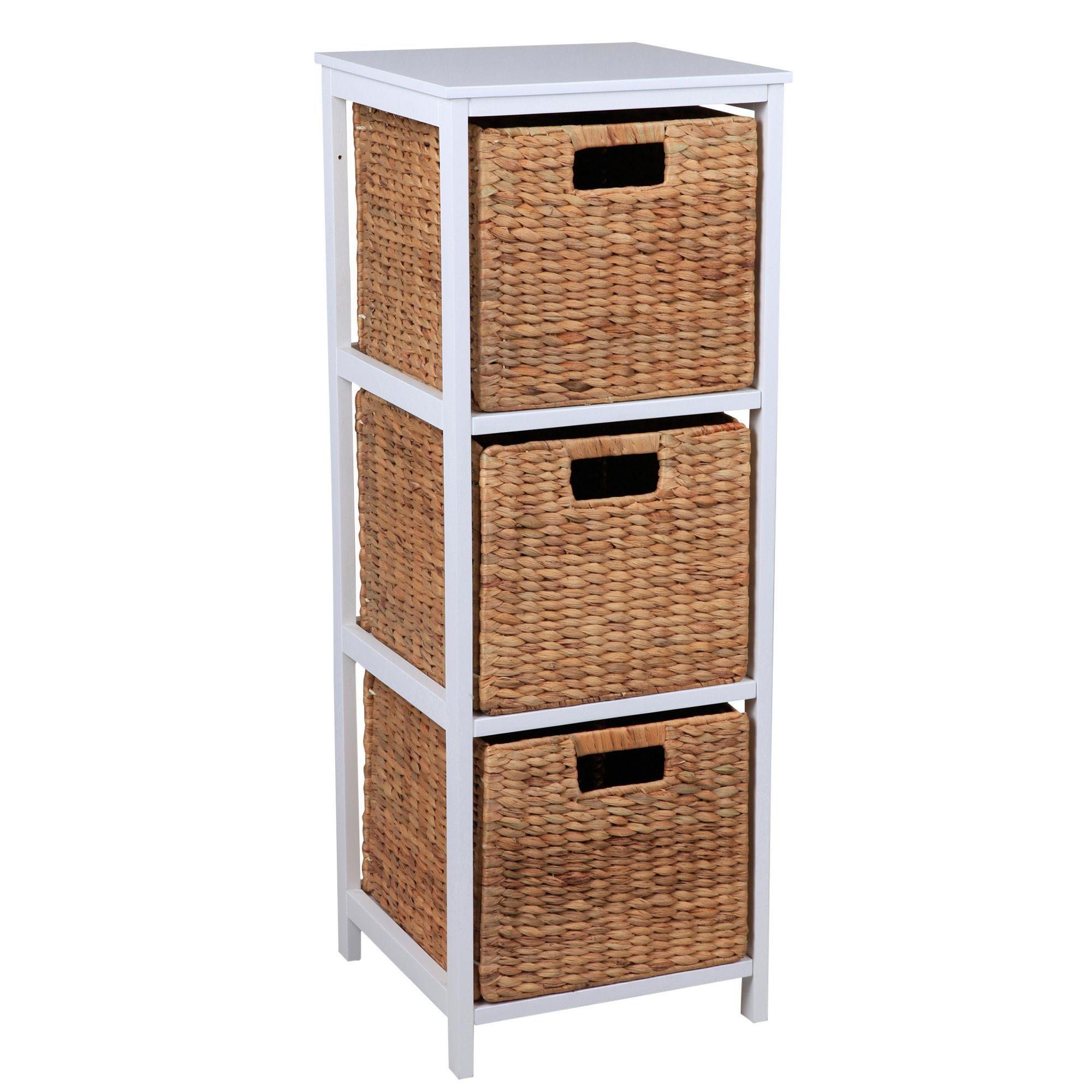 Form Beige & White Mdf & Solid Pine Drawer Tower Unit