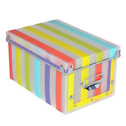 Form Stripe Multicolour Plastic Storage Box