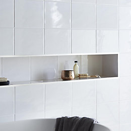 Core White Ceramic Wall Tile, Pack of 20,