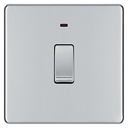 Colours 20A Double Pole Polished Chrome Switch with