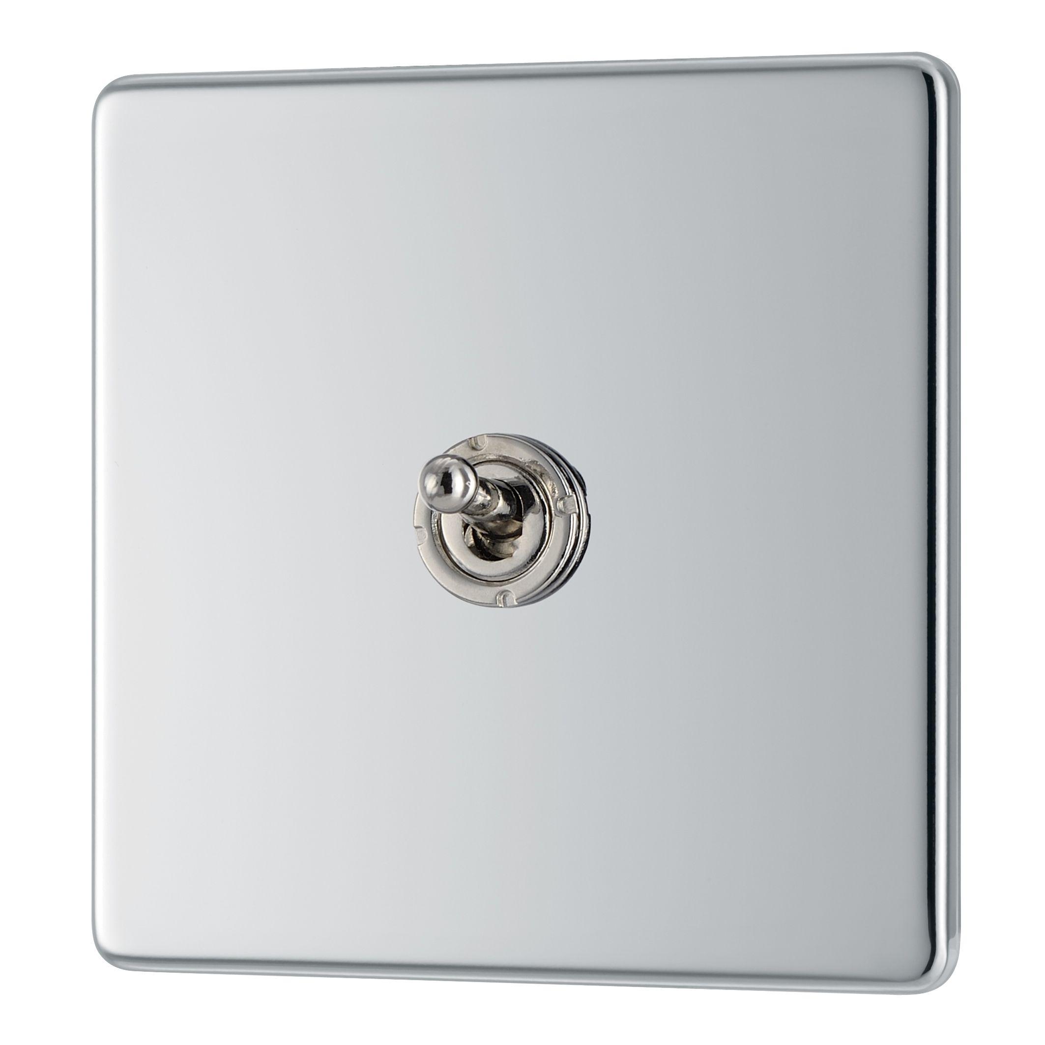 Colours 10a 2-way Single Polished Chrome Toggle Switch