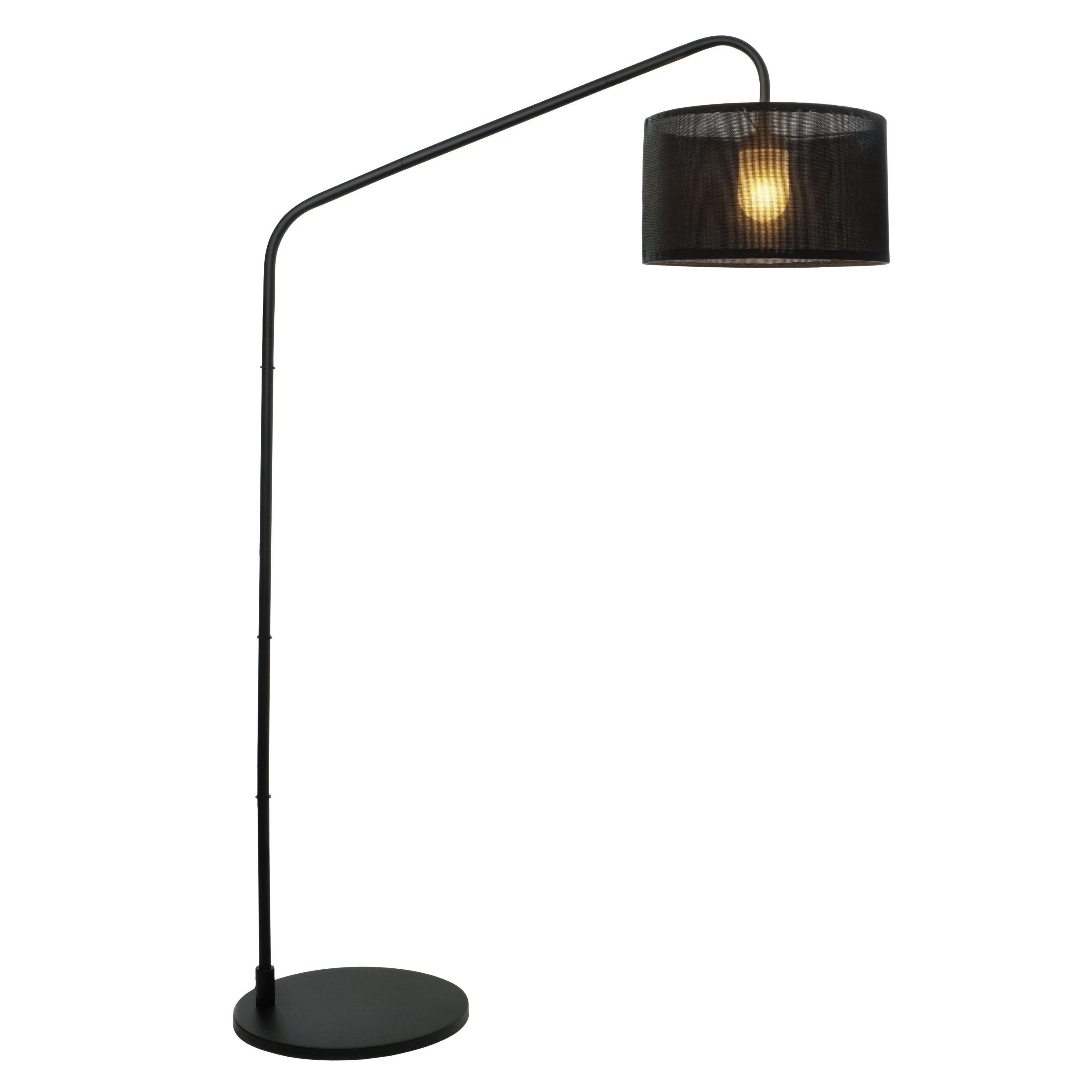 Aporia Black Outdoor Floor Lamp | Departments | DIY at B&Q.