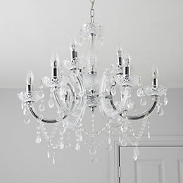 Annelise Crystal Droplets 9 Lamp Pendant Ceiling Light