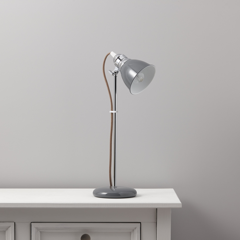 Estiva Grey Table Lamp