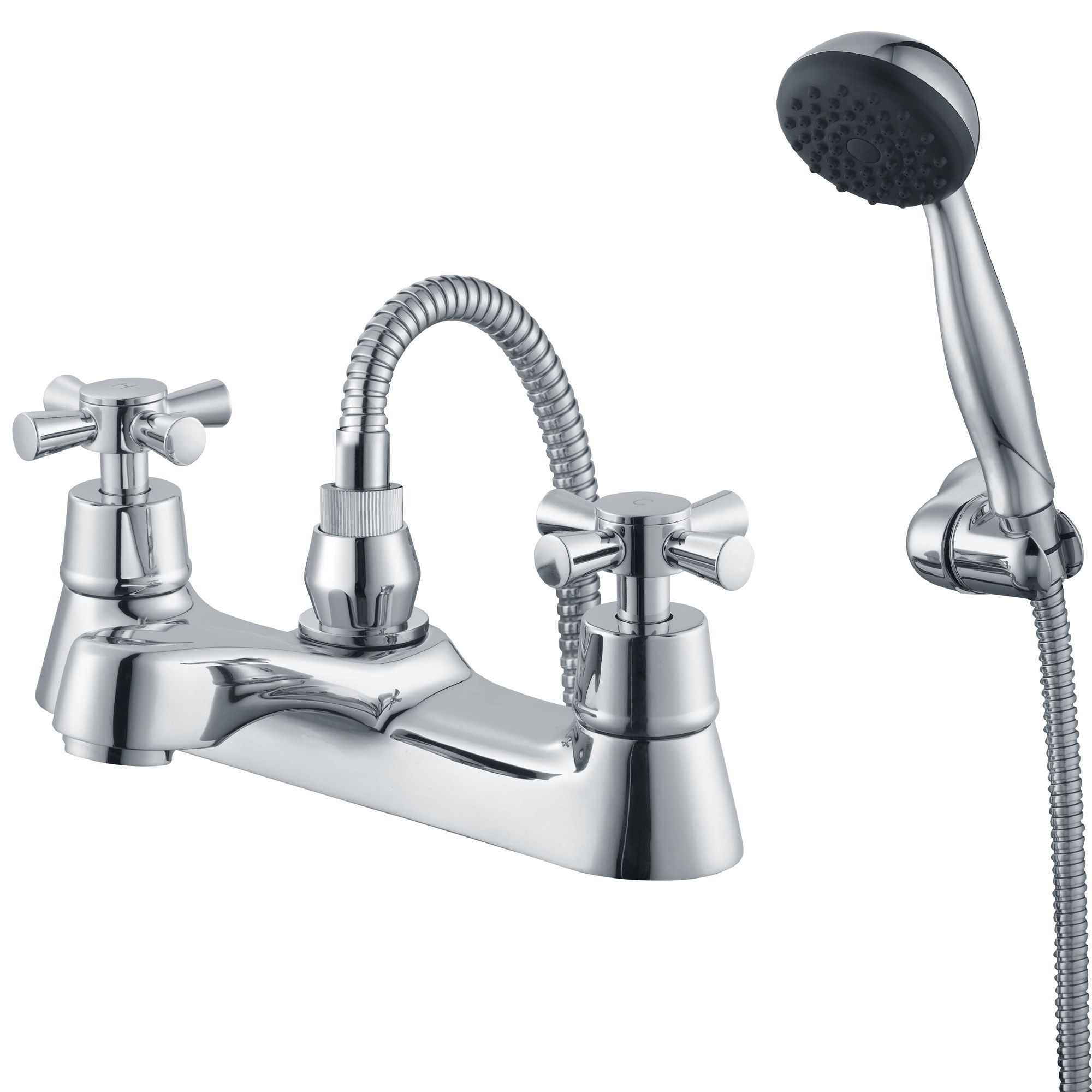 plumbsure crystal chrome bath shower mixer tap departments diy plumbsure crystal chrome bath shower mixer tap departments diy at b q