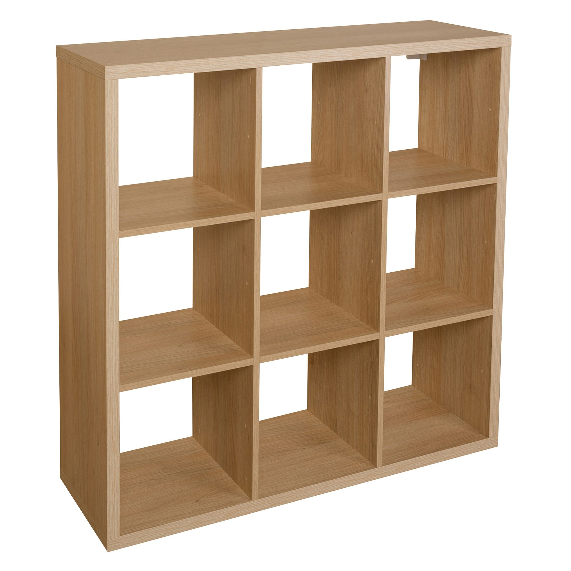 Bathroom Cabinets Uk Bq Form Mixxit Oak Effect 9 Cube Shelving Unit H1080mm W1080mm