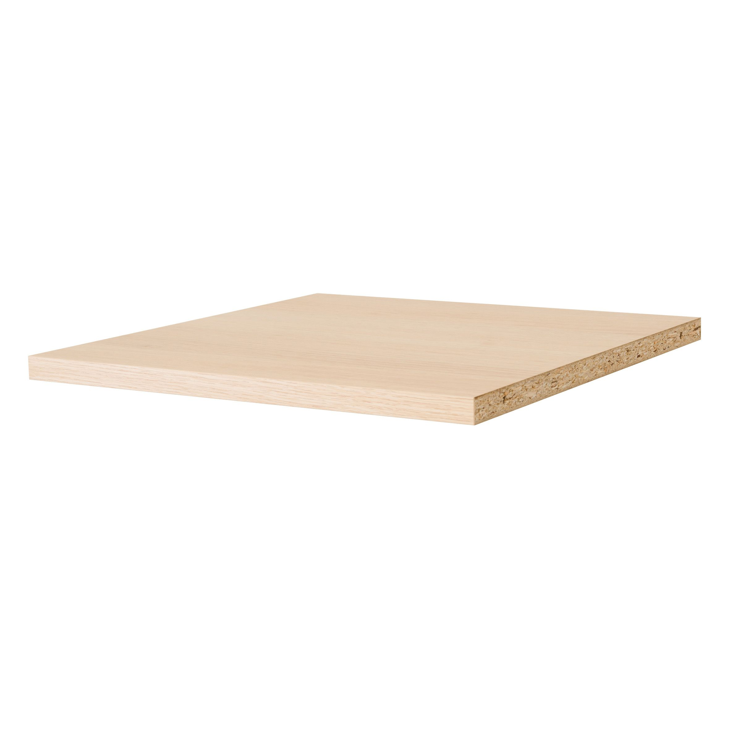 B Q Twin Slot Oak Effect Shelf Board L 600mm D 250mm