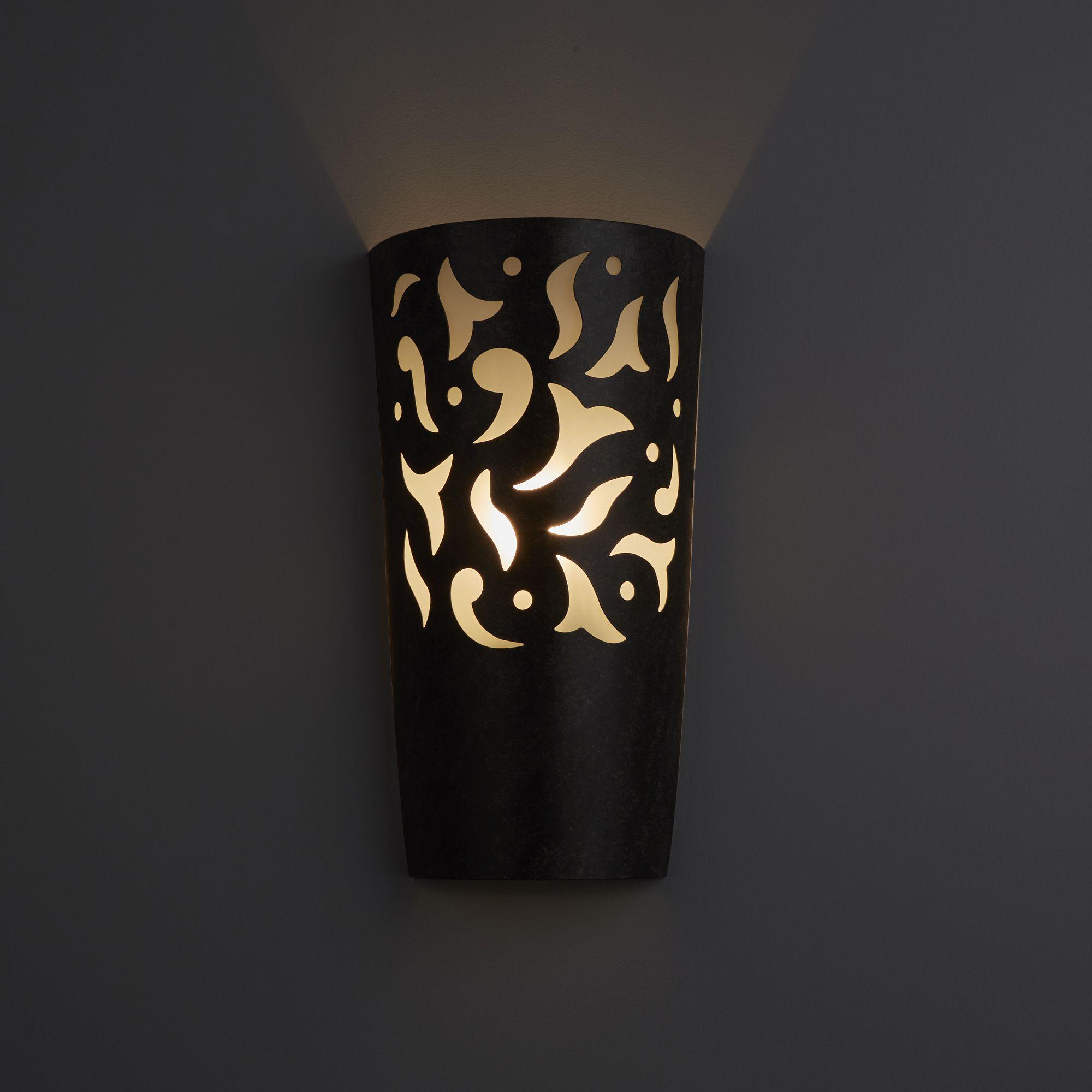 Ankara Contemporary Black Wall Light