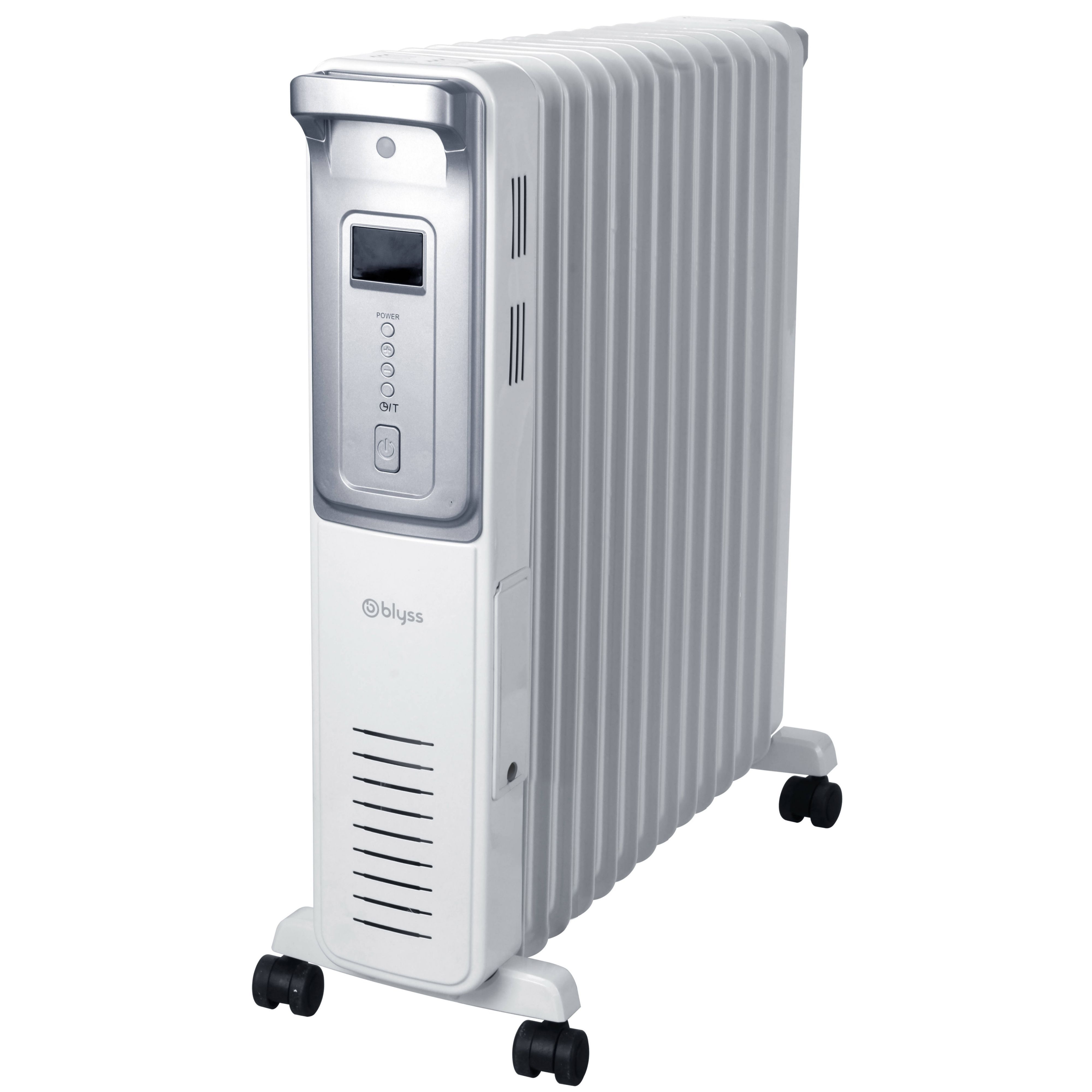 Blyss Electric 3000w White Amp Silver Oil Filled Radiator