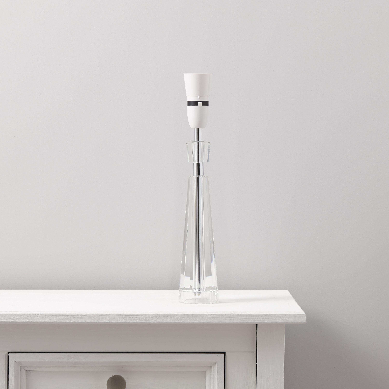 Glennon white floor lamp base departments diy at bq for Diy glass floor lamp