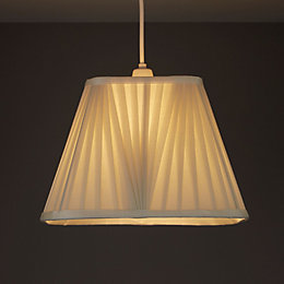 Colours Conwey Ivory Pleated Light Shade (D)300mm