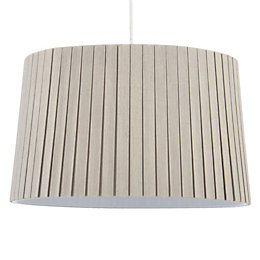 Colours Aubree Mushroom Box Pleat Light Shade (D)34cm