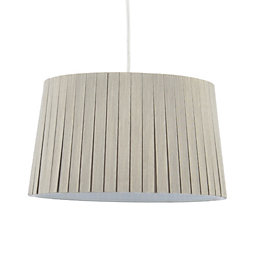 Colours Aubree Mushroom Box Pleat Light Shade (D)28cm