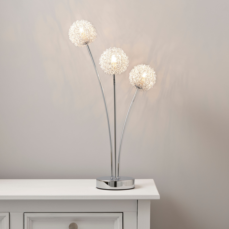 Pallas Chrome Effect Table Lamp | Departments | DIY at B&Q.