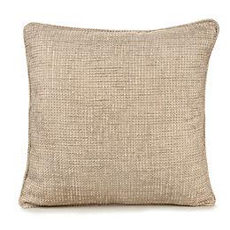 Carina Woven Ecru & Seine Cushion
