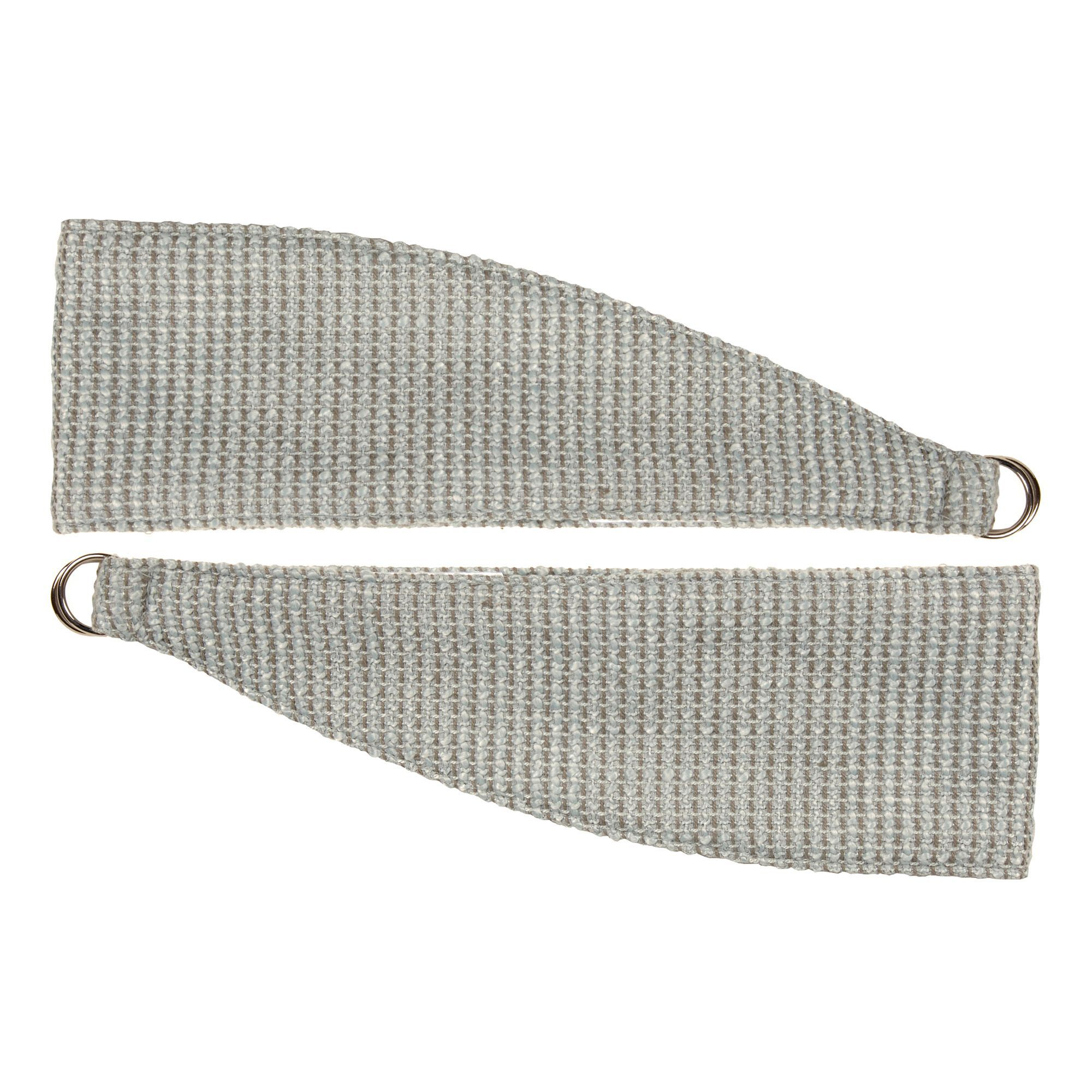 Colours Carina Duck Egg Woven Curtain Tie Backs, Pack Of 2