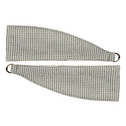 Carina Duck Egg Woven Curtain Tie Backs, Pack