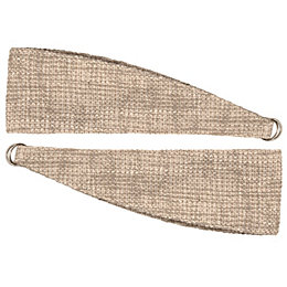 Carina Ecru Woven Curtain Tie Backs, Pack of