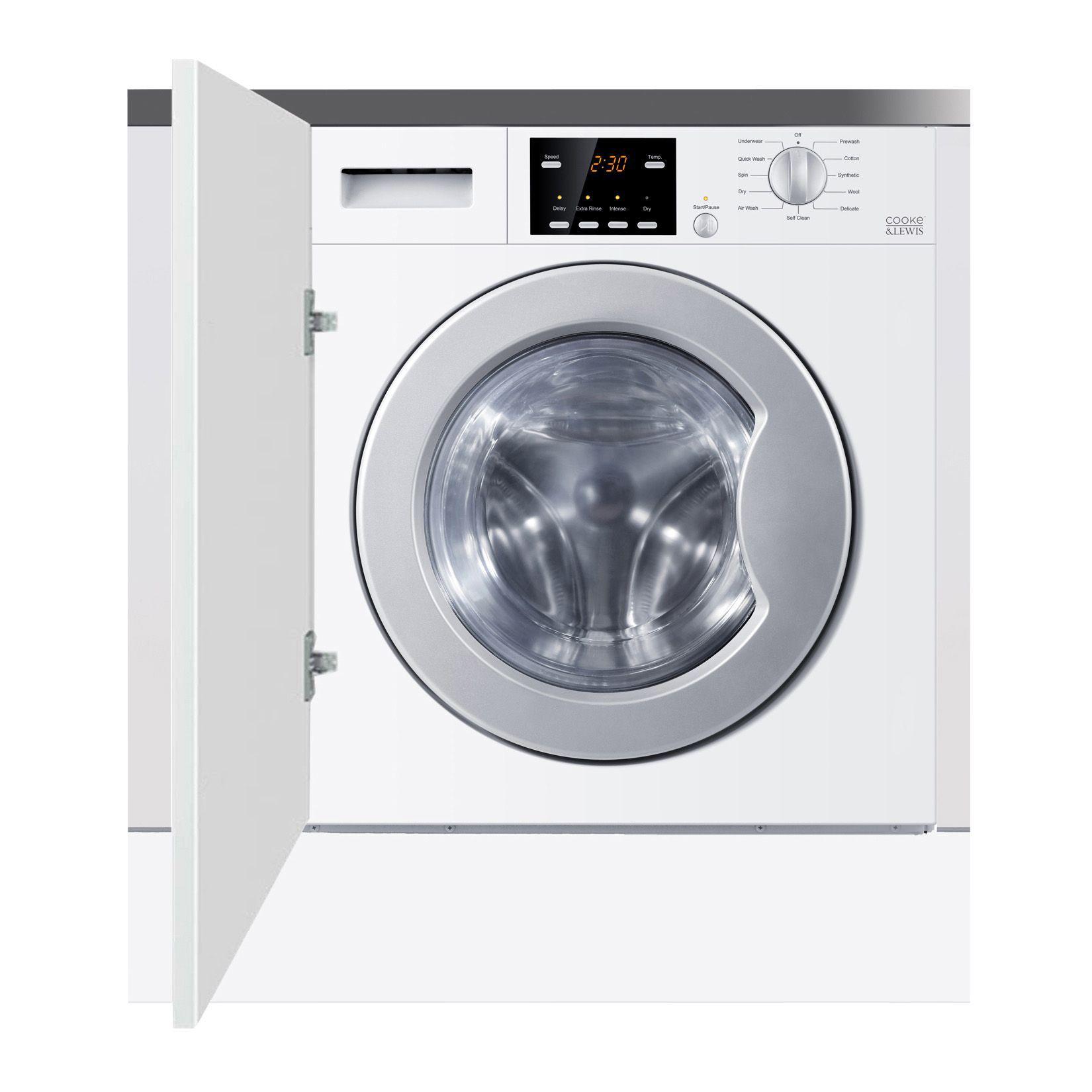 Built In Washer Part - 31: Cooke U0026 Lewis CLBIWD-60 White Built In Washer Dryer | Departments | DIY At  Bu0026Q
