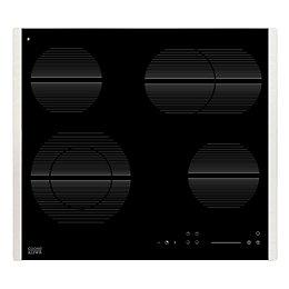 Cooke & Lewis CLCDZ-60 4 Burner Black Glass