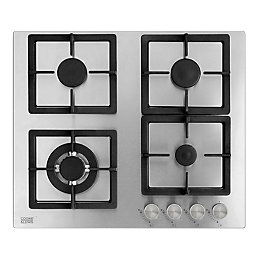 Cooke & Lewis CLGSS-60 4 Burner Cast Iron