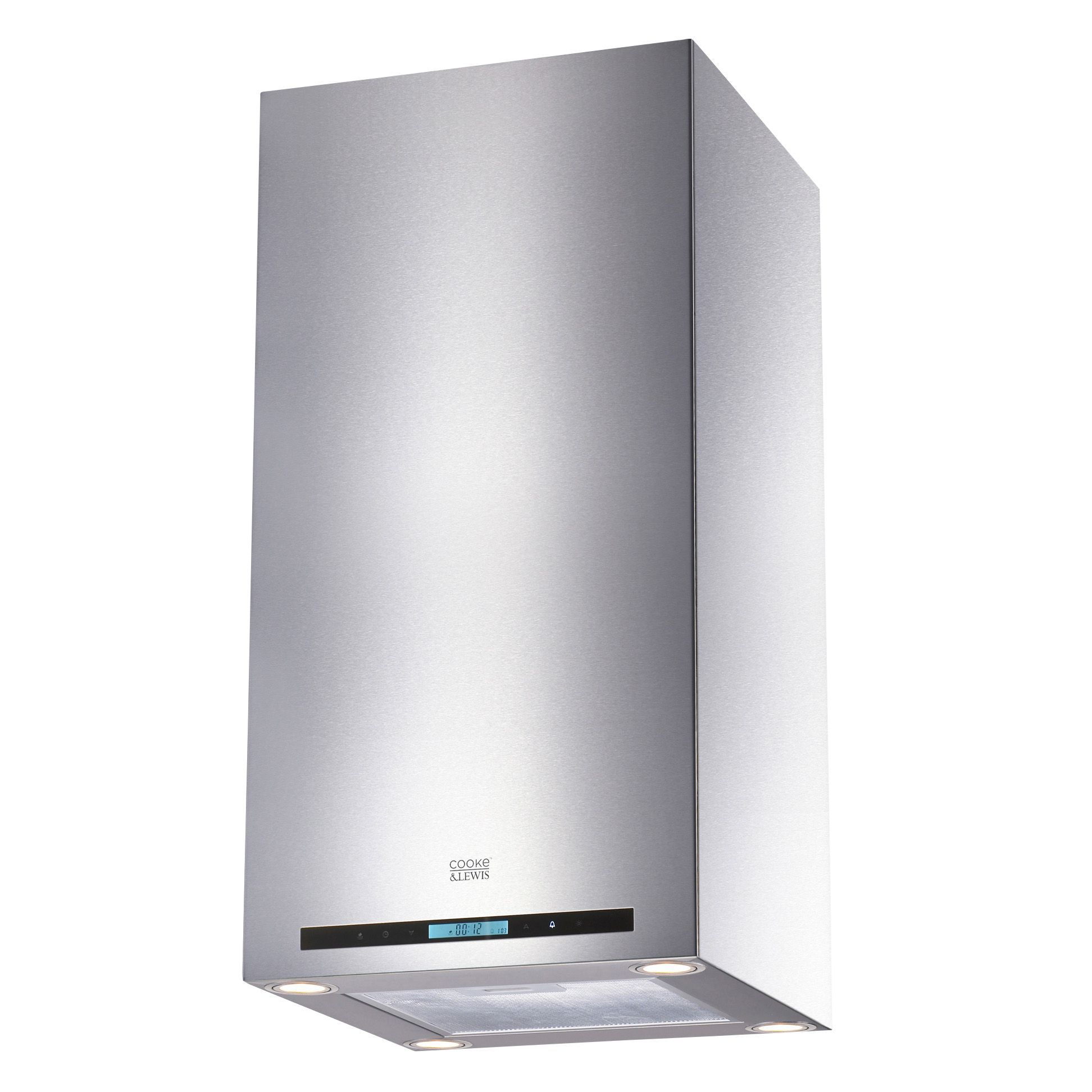 cooke u0026 lewis clibh11 stainless steel island cooker hood w 900mm departments diy at bu0026q