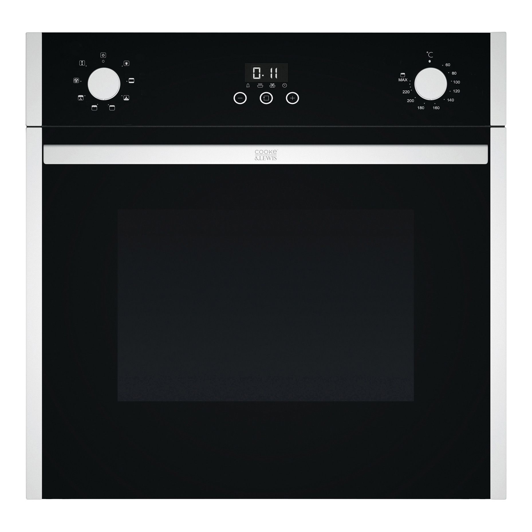 Cooke & Lewis Ov60cl Black Electric Multifunction Single Oven