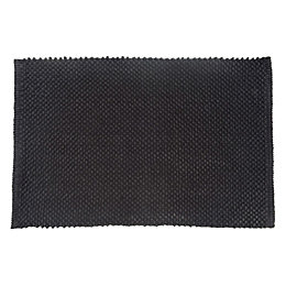 Cooke & Lewis Olson Black Cotton Bath Mat