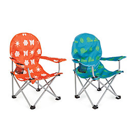 Molloy Patterned Metal Kids Camping Chair