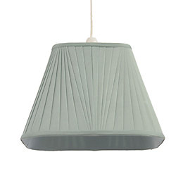 Colours Conwey Duck Egg Pleated Light Shade (D)300mm