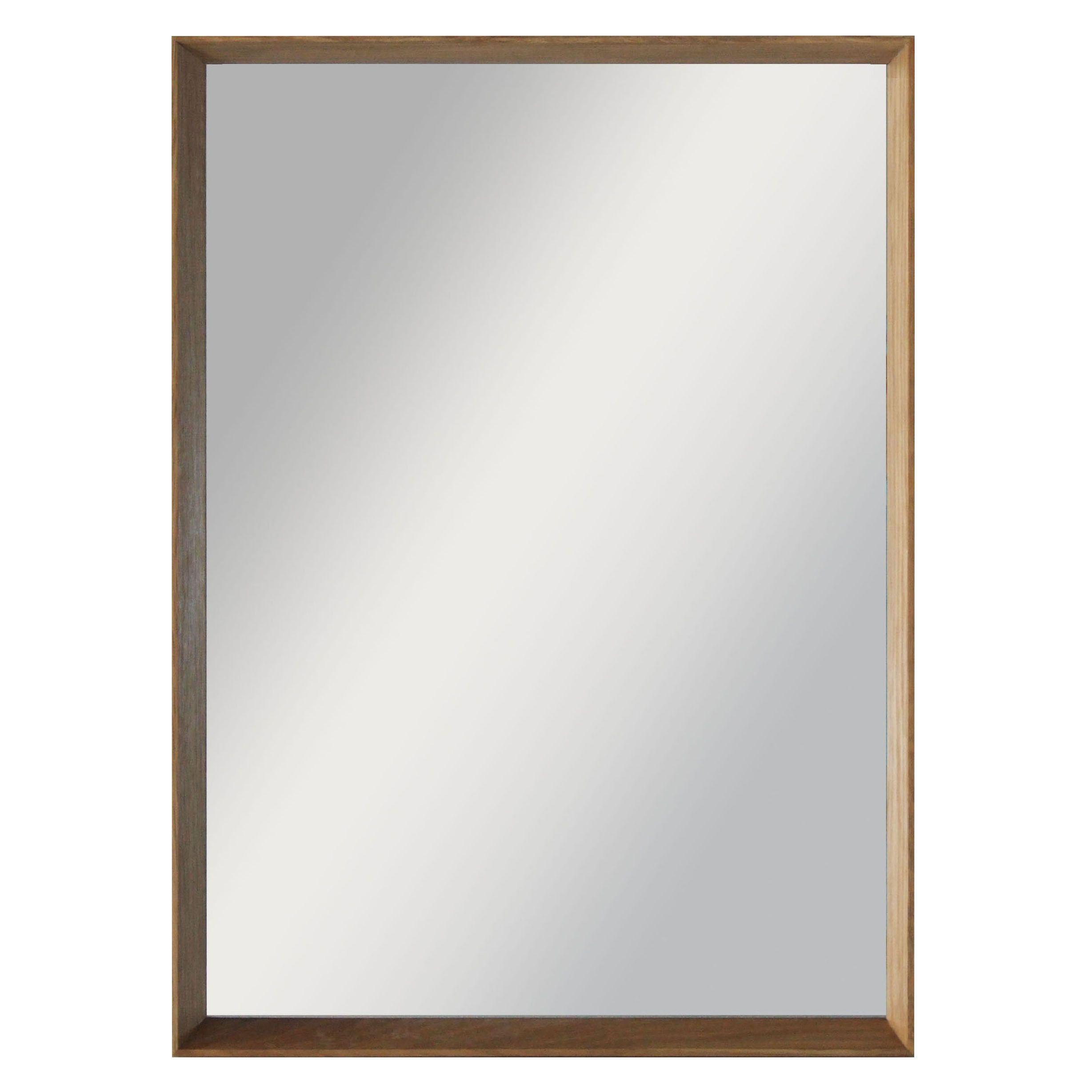 Colours Kahiwa Oak Effect Framed Rectangular Mirror (h)320mm (w) 420mm