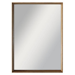 Colours Kahiwa Oak Effect Framed Rectangular Mirror (H)320mm