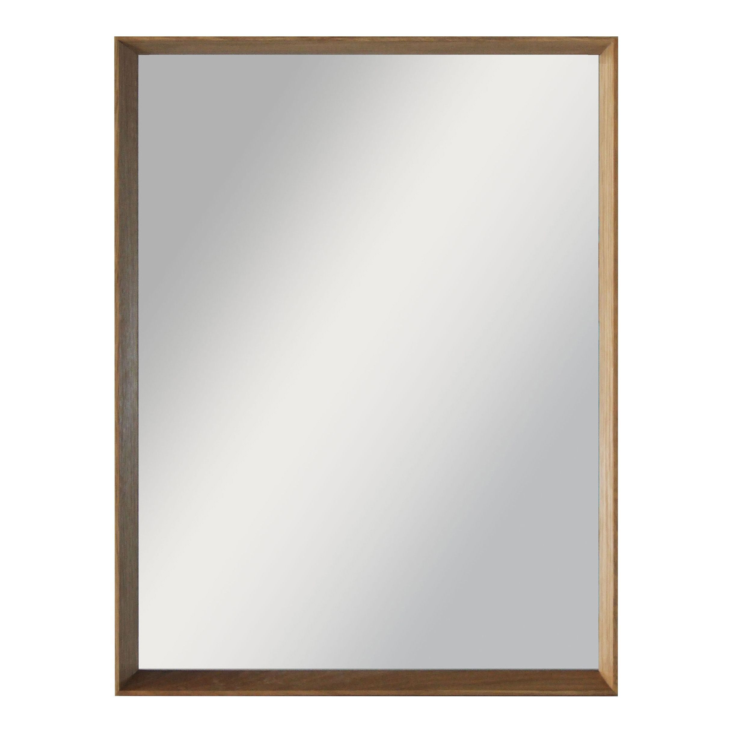 Colours Kahiwa Oak Effect Framed Rectangular Mirror (h)520mm (w) 720mm