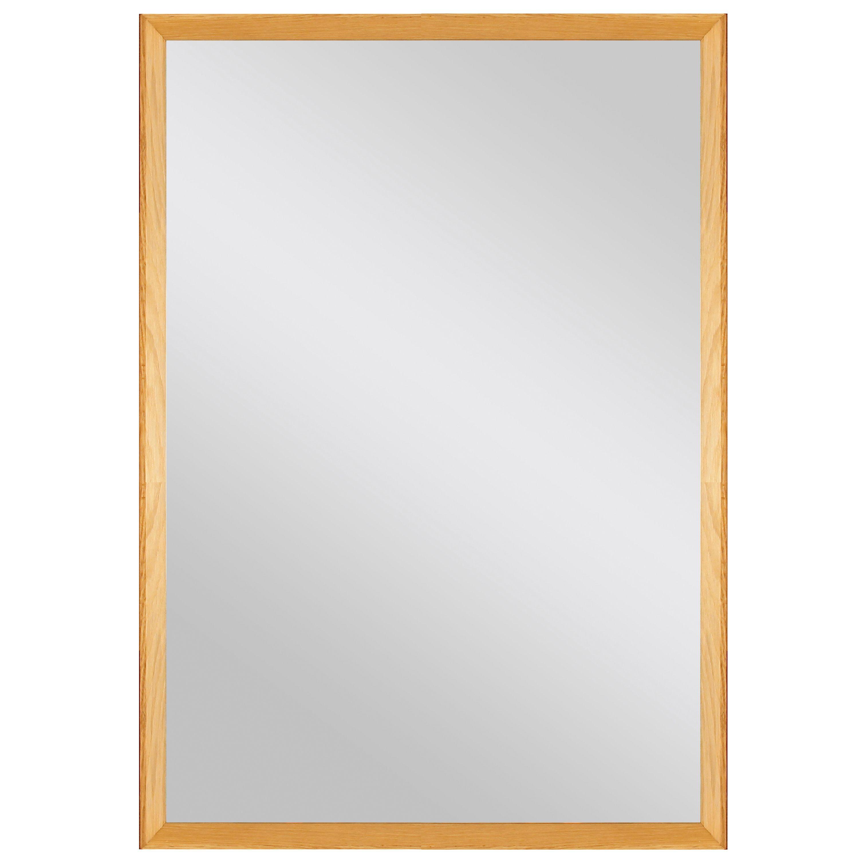 Colours Kahiwa Oak Effect Framed Rectangular Mirror (h)620mm (w) 920mm