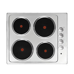 Cooke & Lewis 4 Burner Stainless Steel Electric