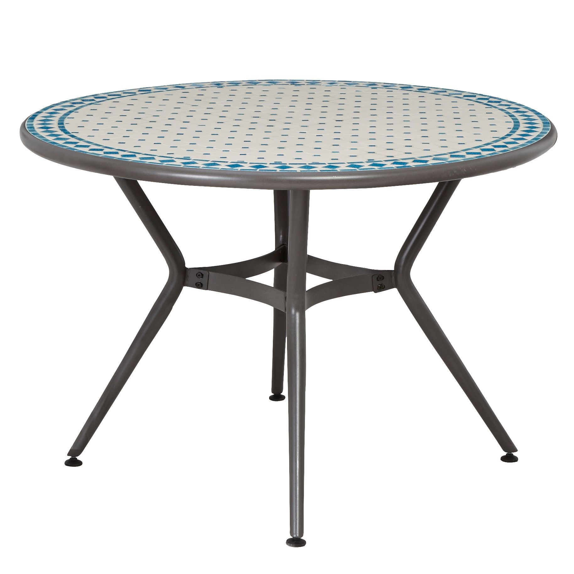 Silene Metal 4 Seater Round Table Departments DIY At B Q