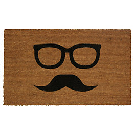 Colours Uri Black & Natural Moustache Coir Door