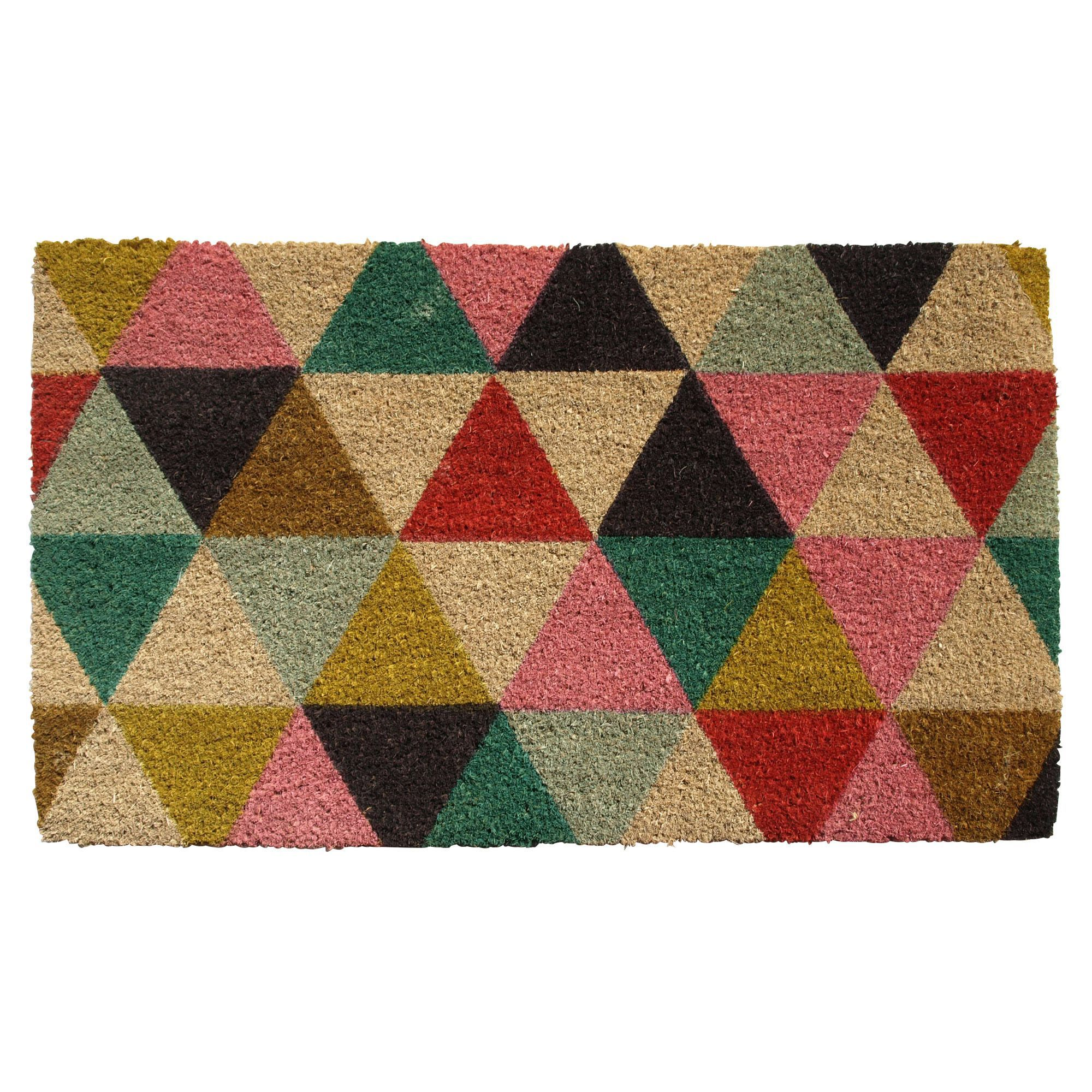 Awesome Colours Lami Multicolour Geometric Coir Door Mat (L)0.75m (W)450mm |  Departments | DIY At Bu0026Q