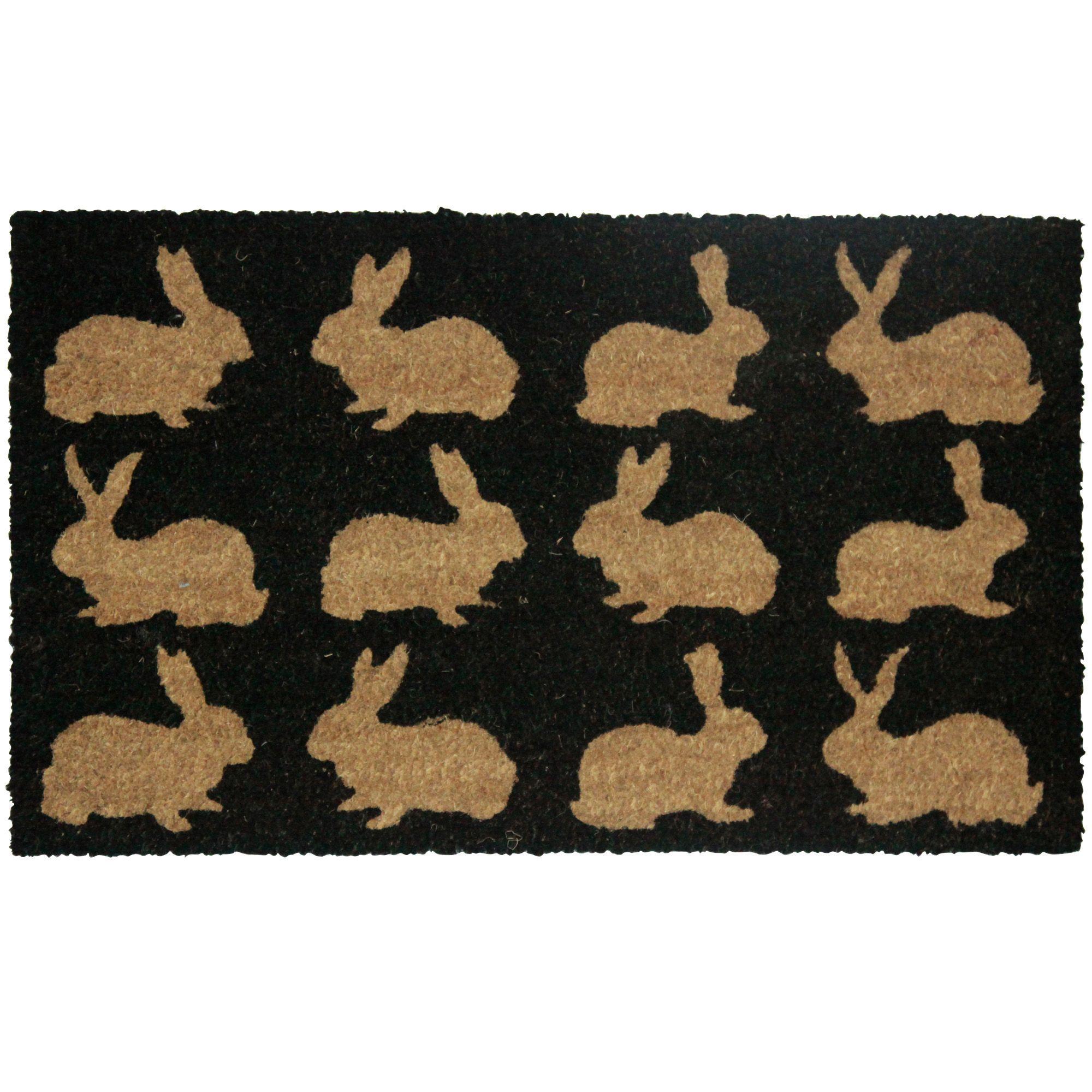 Colours Bellina Black Amp Natural Rabbit Coir Door Mat L 0