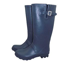 Verve Navy Wellington Boots, Size 6