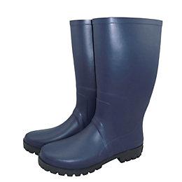 Verve Navy Wellington Boots, Size 8