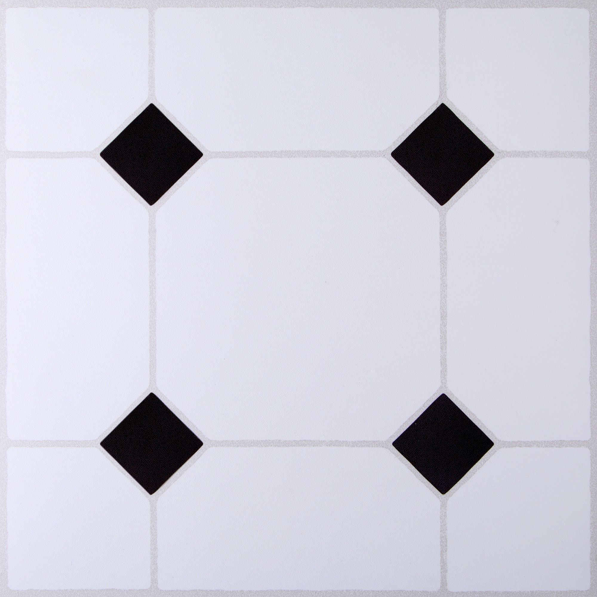 B Amp Q Black Amp White Tile Effect Self Adhesive Vinyl Tile 1