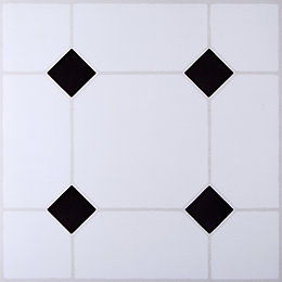 B&Q Black & White Tile Effect Self Adhesive