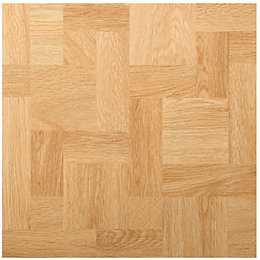 B&Q Natural Wood Effect Self Adhesive Vinyl Tile