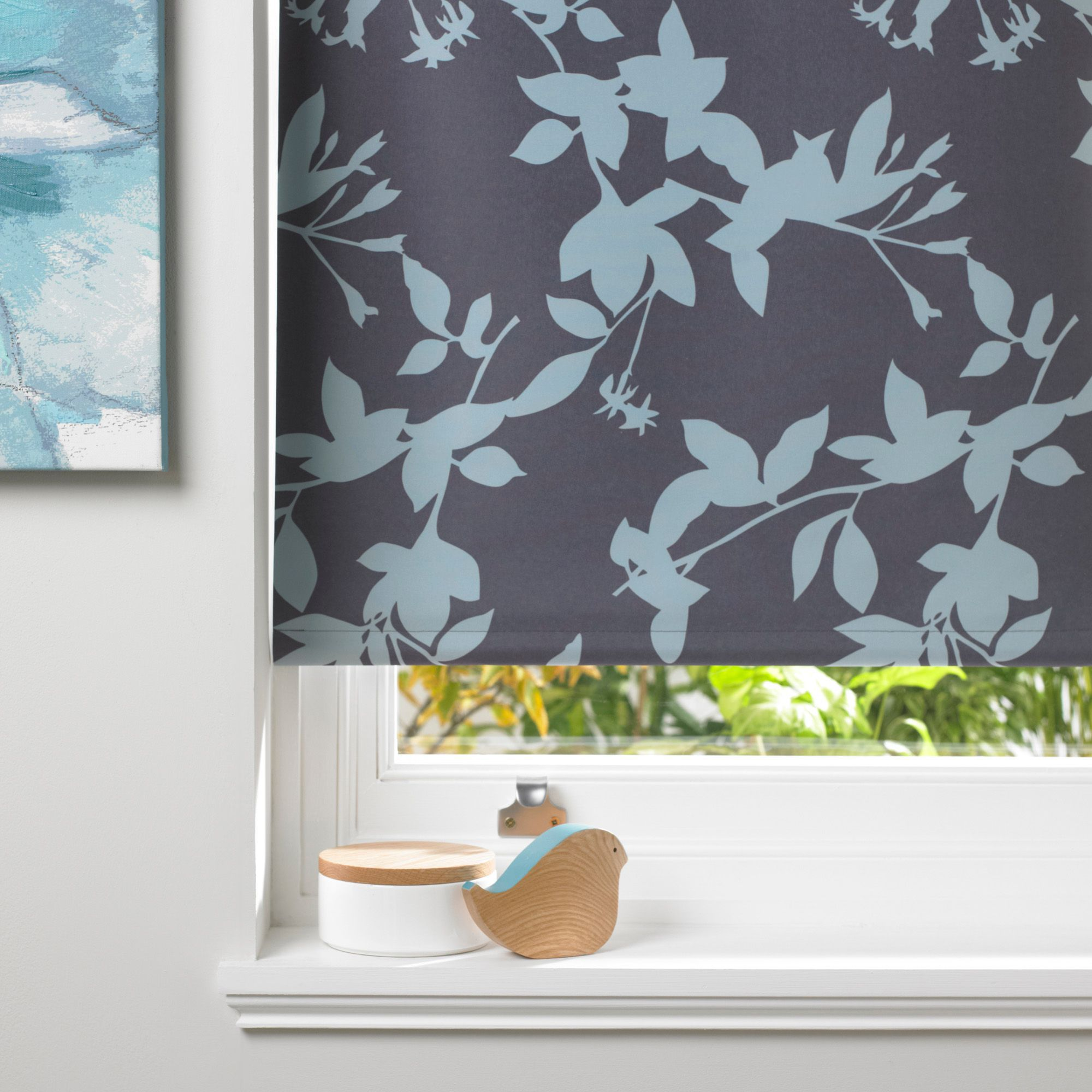 Bathroom Window Blinds B&Q colours pheacia corded denim roller blind (l)160 cm (w)180 cm