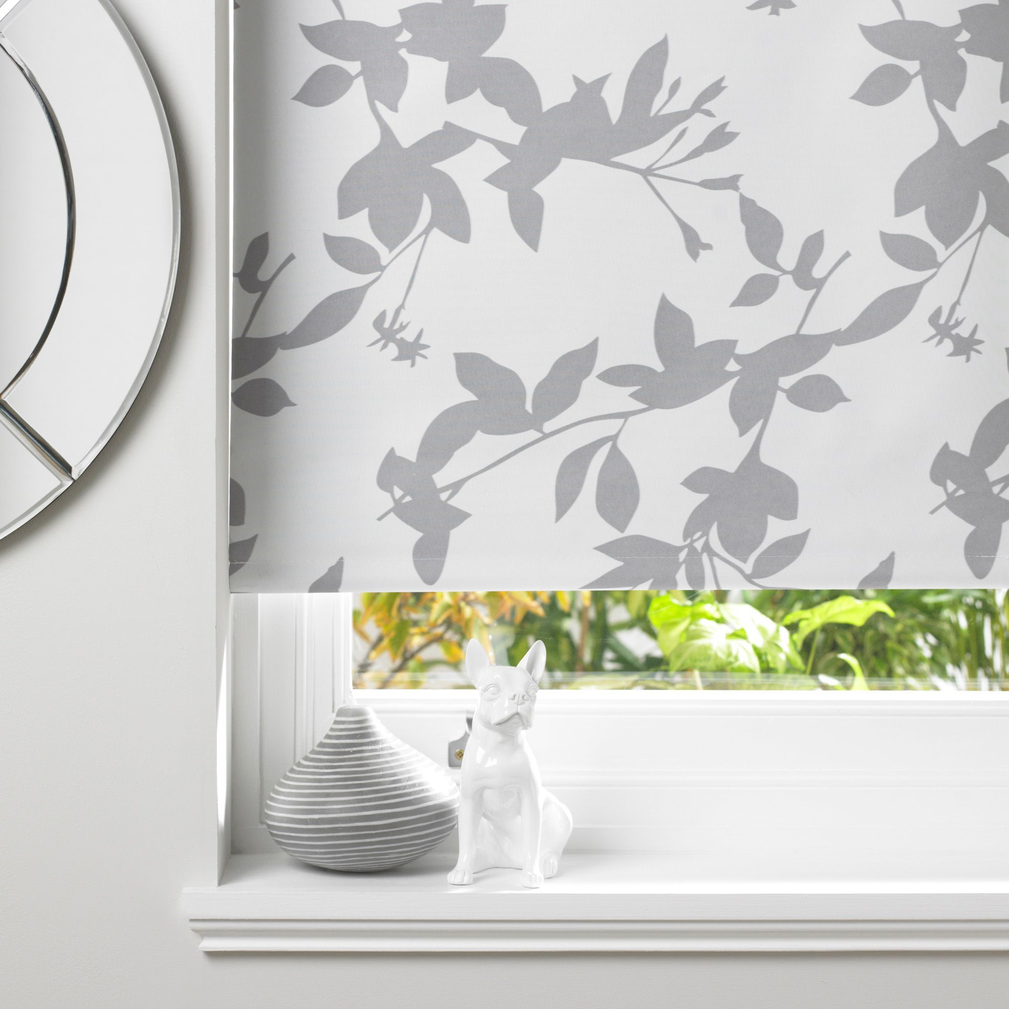 Colours Pheacia Corded Grey & White Roller Blind