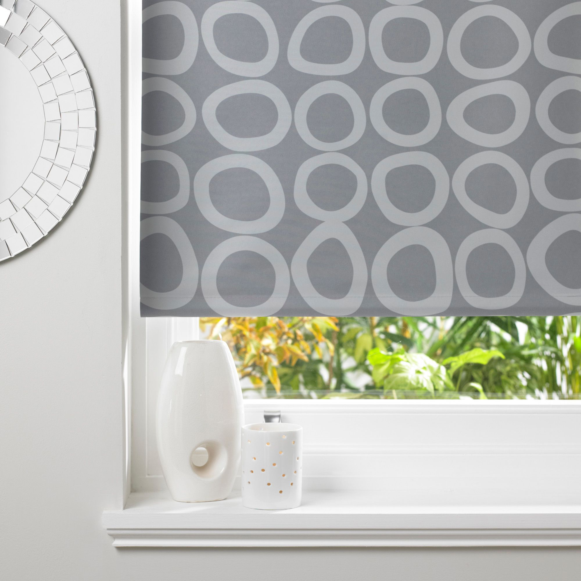 Colours Diablo Corded Grey & Concrete Roller Blind