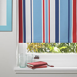 Colours Keel Corded Blue, Red & White Roller