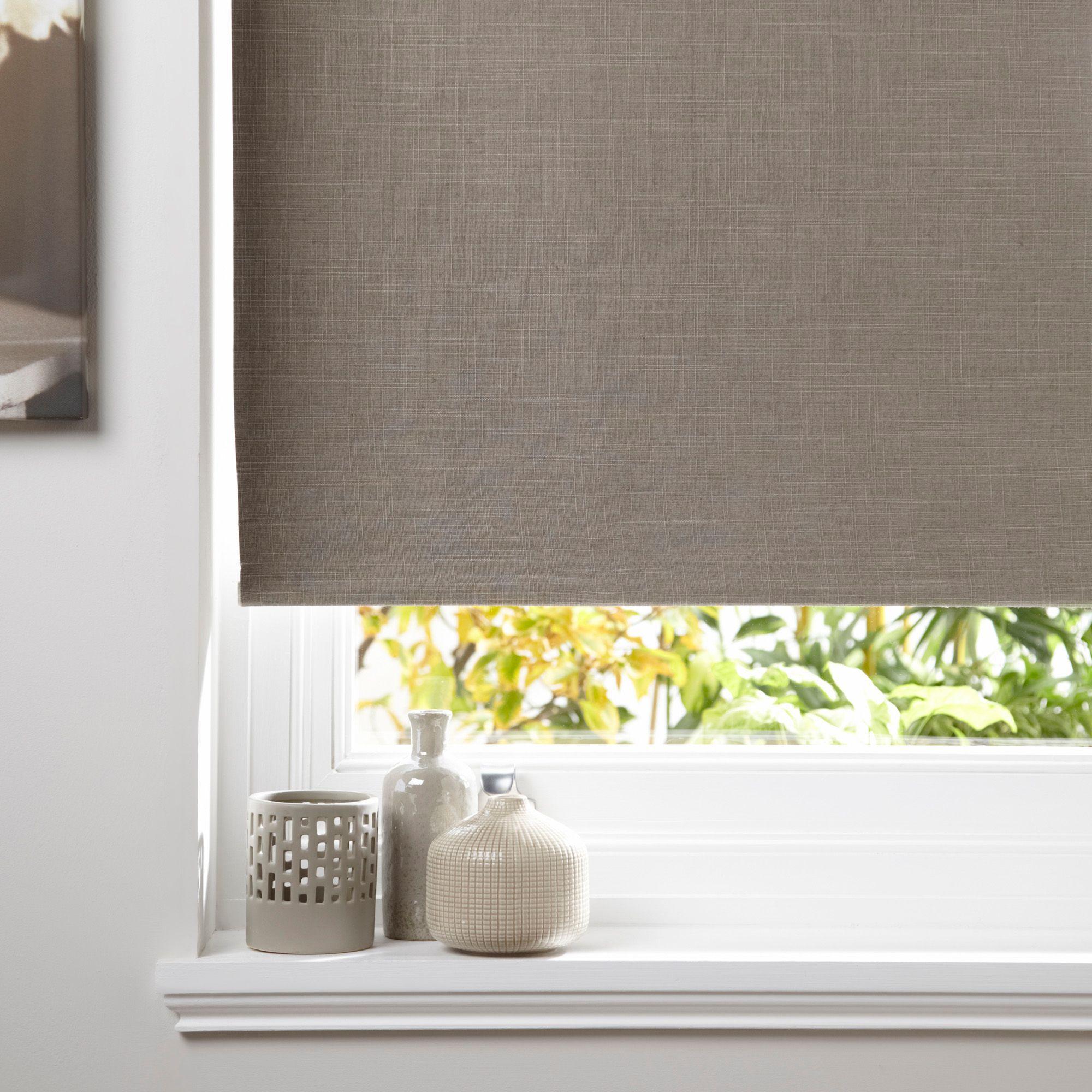 Bathroom Window Blinds B&Q colours taku corded seine roller blind (l)160 cm (w)120 cm